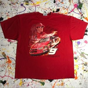 Old NASCAR T-shirt (Nice Graphic) Sz XL (Red) #9
